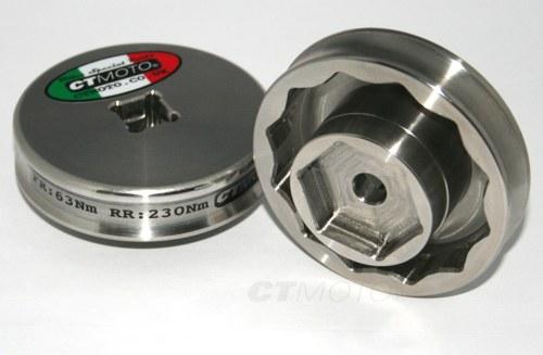 Ducati 1198 Front Rear Tire Wheel Rim Socket Nut Tool 55mm 30mm Stainless Steel